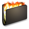 Burn-Black-Folder icon