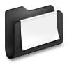 Documents-Black-Folder icon