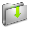 Downloads-Metal-Folder icon