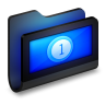 Movies-Black-Folder icon