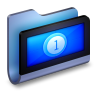 Movies-Blue-Folder icon