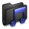 Music-Black-Folder icon