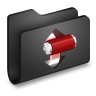 Torrents-Black-Folder icon