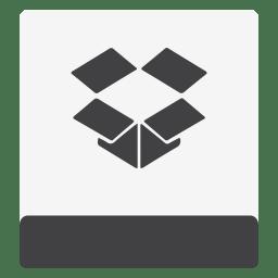 Drive HDD Dropbox White icon