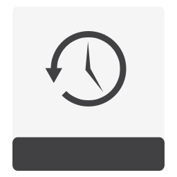 Drive HDD TimeMachine White icon