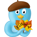 fall leaves follow me icon