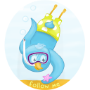 Summer-diving-follow-me icon