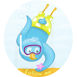 summer diving follow me icon