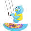 summer waterskiing follow me icon