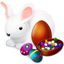 Rabbit eggs icon
