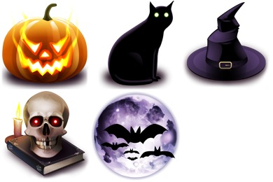 Halloween Iconset (5 icons) | Yellow Icon Design