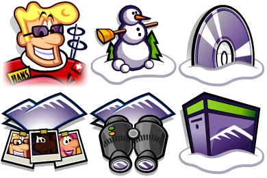Winter Game Icons