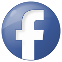social facebook button blue icon