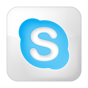 Social-skype-box-white icon