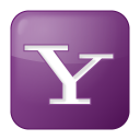 social yahoo box lilac icon