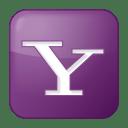 Social yahoo box lilac icon