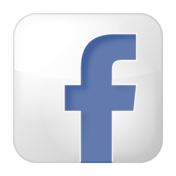 social facebook box white icon