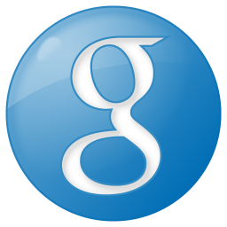 social google button blue icon