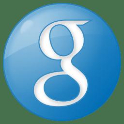 Social google button blue icon