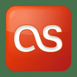 Social lastfm box red icon