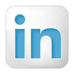 Social linkedin box white icon
