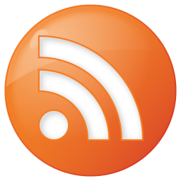social rss button orange icon