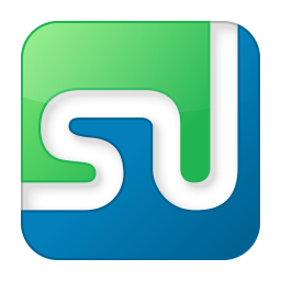 social stumbleupon box color icon
