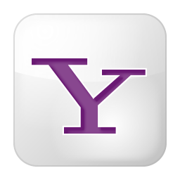 Social yahoo box white icon