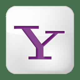 social yahoo box white icon