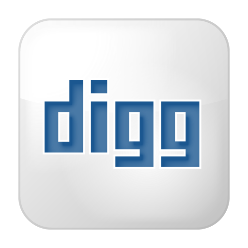 Social digg box white icon