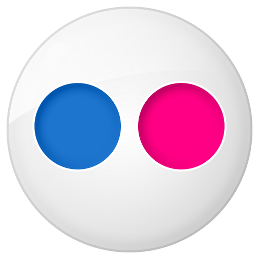 social flickr button icon