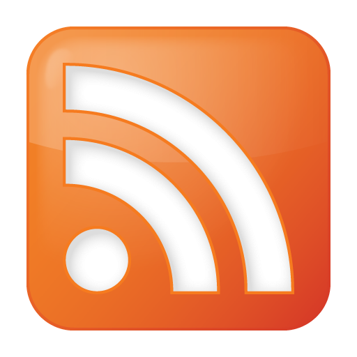 social rss box orange icon
