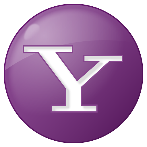 social yahoo button lilac icon
