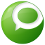 social technorati button green icon
