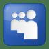 Social-myspace-box-blue icon