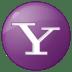 Social-yahoo-button-lilac icon