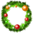 Christmas wreath icon