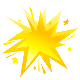 Fireworks yellow icon
