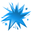 fireworks blue icon