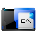 folder msdos application icon