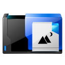 Folder-pictures-share icon
