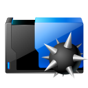 folder virus icon