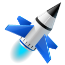 Rocket-launch-run icon