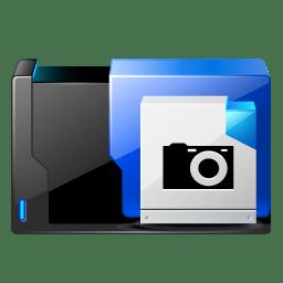 Folder camera icon