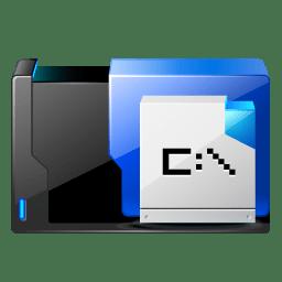 Folder msdos application icon