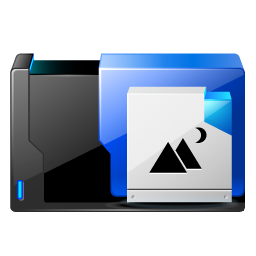 Folder pictures share icon
