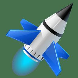 Rocket launch run icon