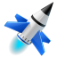 rocket launch run icon