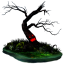 Halloween tree icon