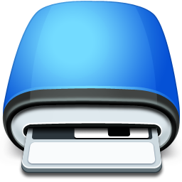 Drive Floppy blue icon